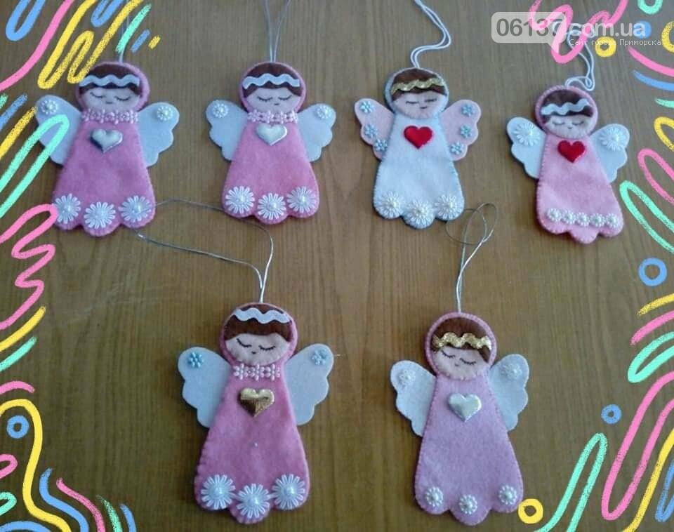 В Приморську робили ангелочків з фетру, фото-1