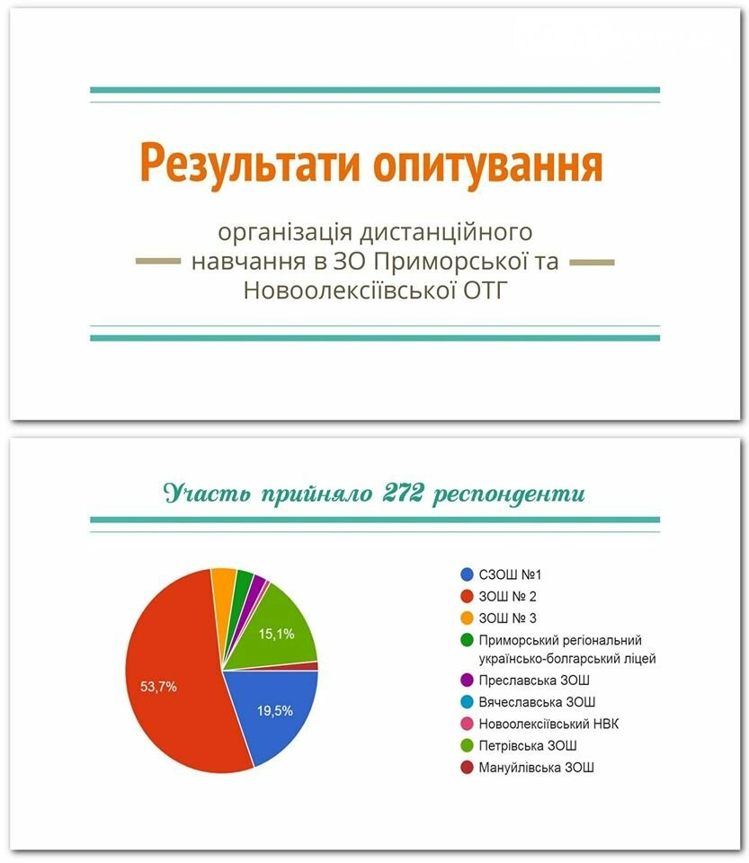Відділ Освіти Приморської ОТГ провели опитування щодо дистанційного навчання, фото-2