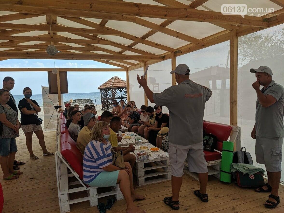 У Приморську рятувальники навчали правильно поводитися на морі, фото-2