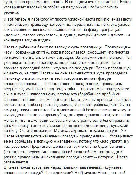 """Сотрудники """"Укрзализныци"""" предлагали журналистке, которую избили в поезде, взятку. Фото, фото-8"""