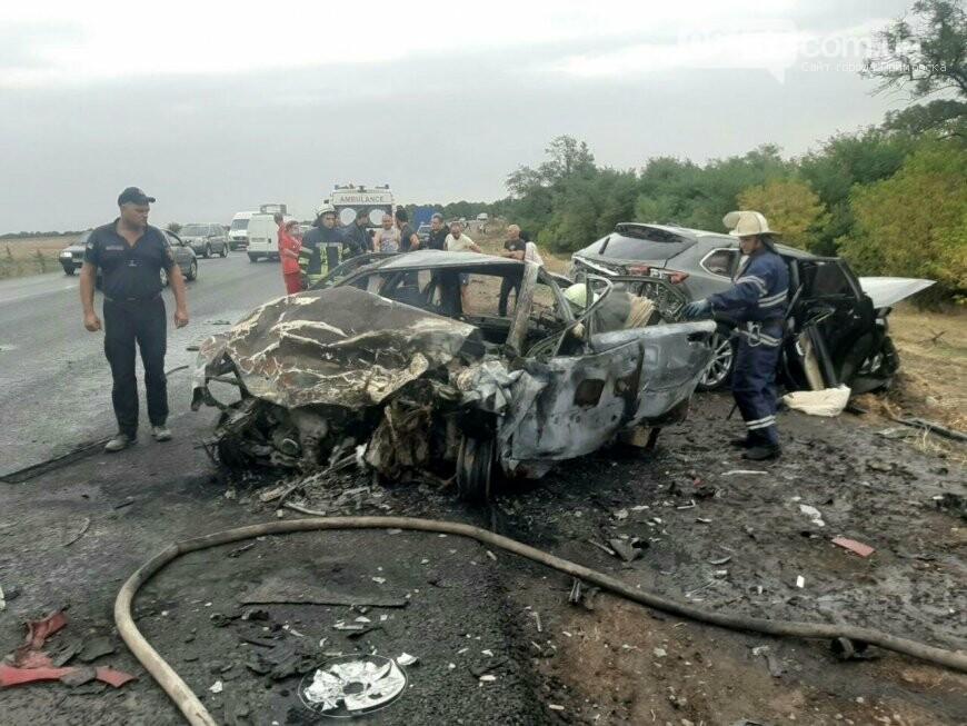 Жуткая авария в Запорожской области: загорелось авто, погибли два человека. Фото, фото-1