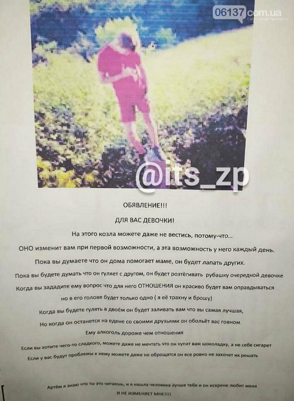 Жительница Запорожья решила отомстить парню, развесив о нем объявления  , фото-1