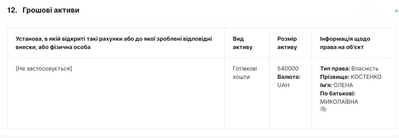 В Запорожской области прокурор задекларировала полмиллиона грн наличкой , фото-1