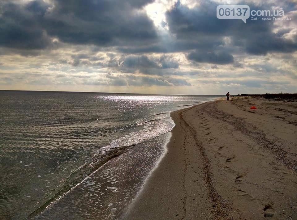 Красота ноябрьского моря в Запорожской области от заката до рассвета. Приморск. Обиточная коса , фото-8