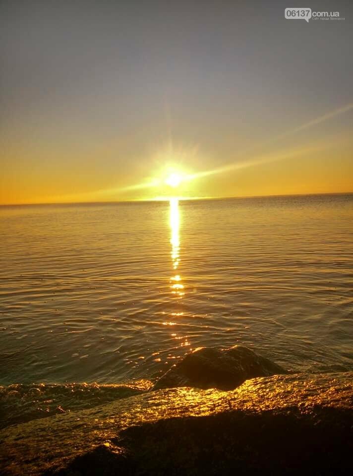 Красота ноябрьского моря в Запорожской области от заката до рассвета. Приморск. Обиточная коса , фото-14