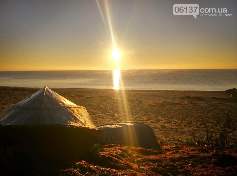 Красота ноябрьского моря в Запорожской области от заката до рассвета. Приморск. Обиточная коса , фото-16