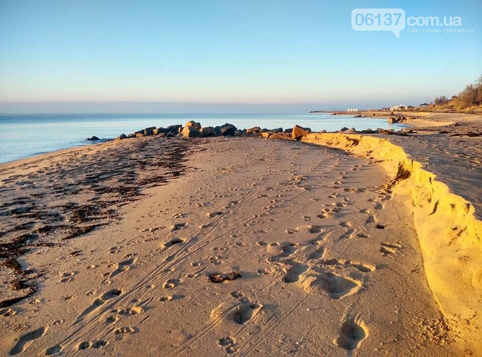 Красота ноябрьского моря в Запорожской области от заката до рассвета. Приморск. Обиточная коса , фото-27