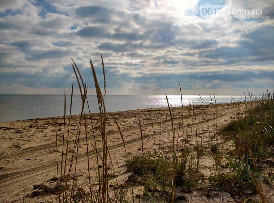 Красота ноябрьского моря в Запорожской области от заката до рассвета. Приморск. Обиточная коса , фото-31