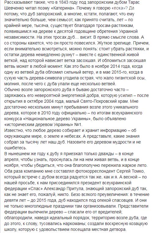 """В Запорожье """"повесился"""" легендарный дуб. Фото , фото-2"""