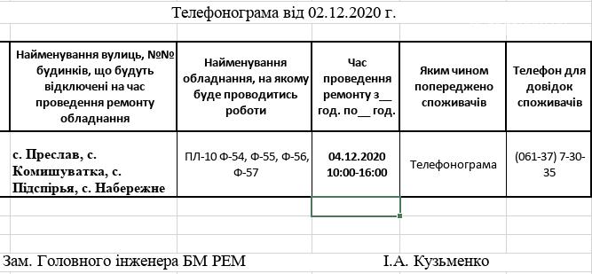 Сьогодні  в деяких селах Приморської громади відбудуться планові відключення електропостачання, фото-1