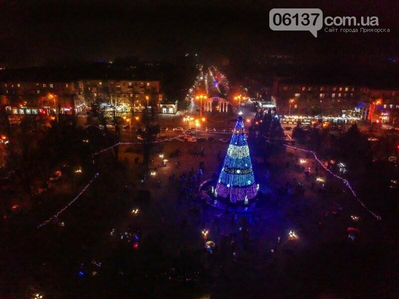 Новогоднее Запорожье показали с высоты птичьего полета. Фото, фото-2