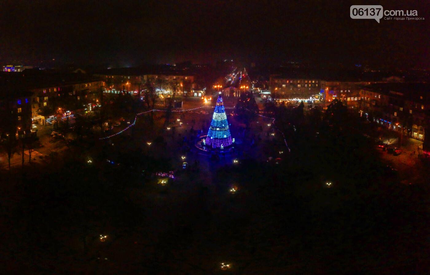 Новогоднее Запорожье показали с высоты птичьего полета. Фото, фото-1
