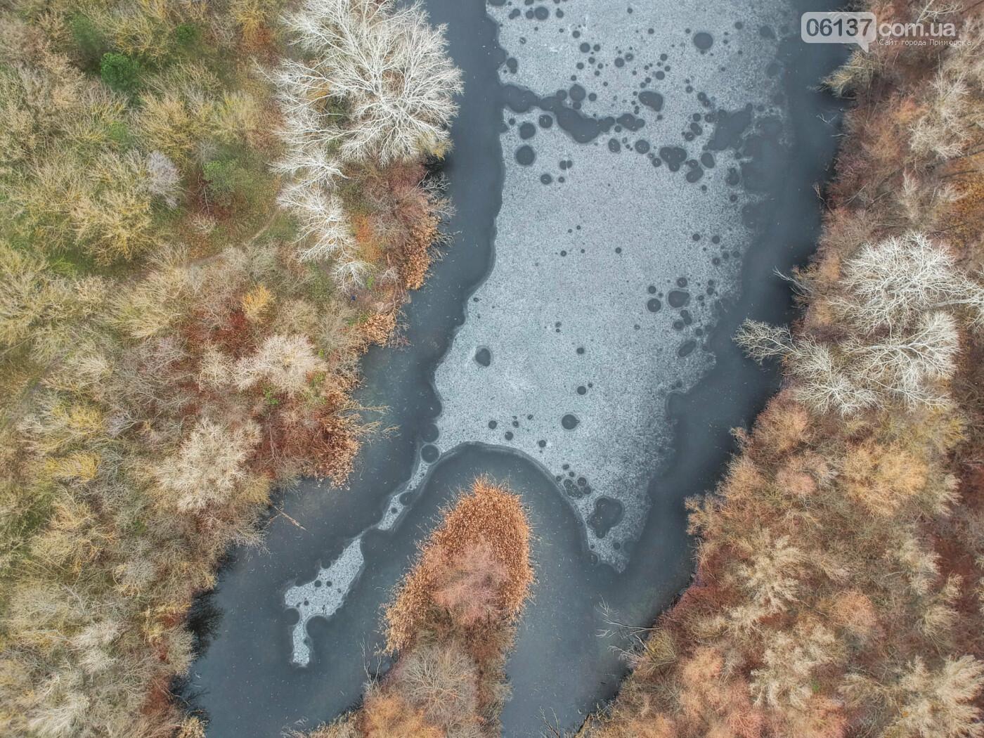 Запорожский фотограф показал озера Хортицы с высоты. Фото/Видео , фото-1