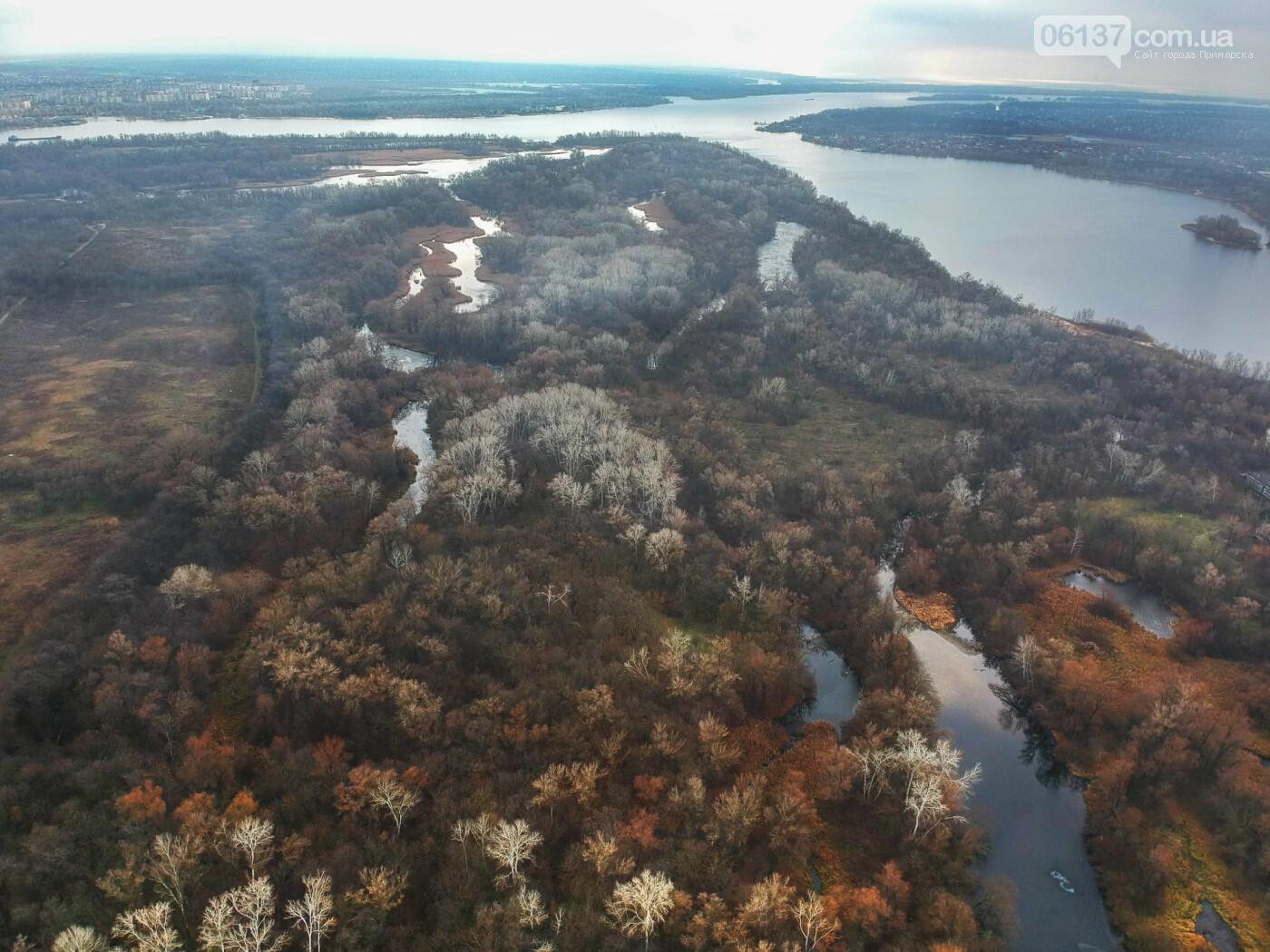 Запорожский фотограф показал озера Хортицы с высоты. Фото/Видео , фото-2