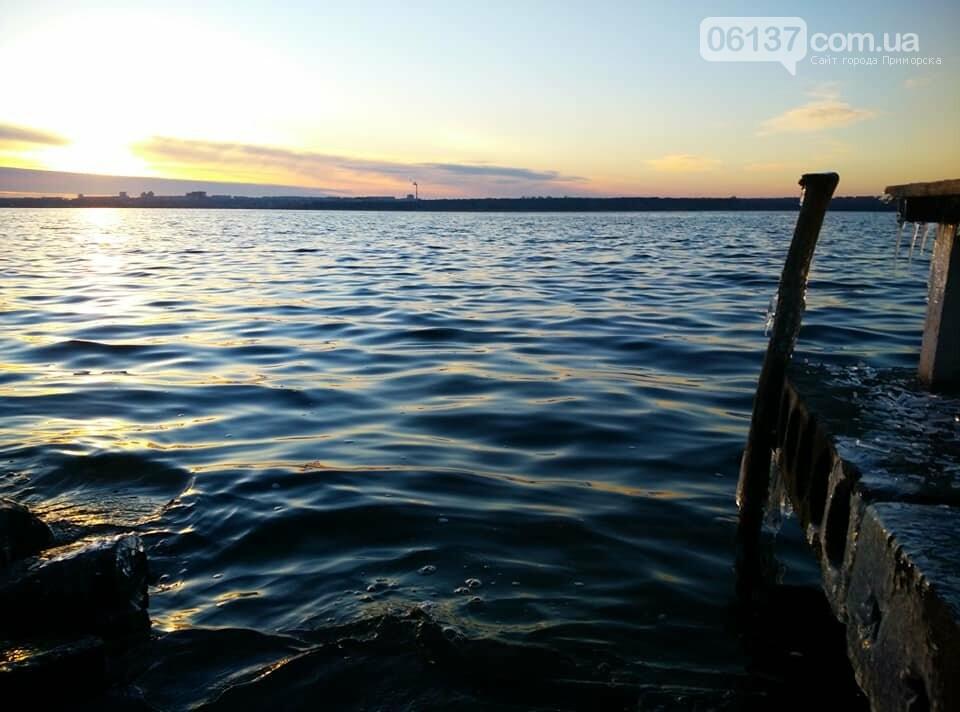 Солнце и лед: рассвет и закат на выходных в Запорожье. Фото  , фото-2