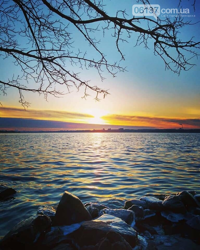 Солнце и лед: рассвет и закат на выходных в Запорожье. Фото  , фото-7