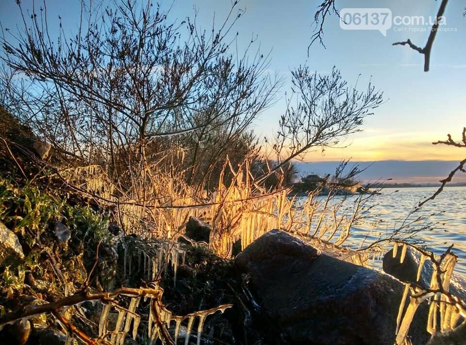 Солнце и лед: рассвет и закат на выходных в Запорожье. Фото  , фото-13