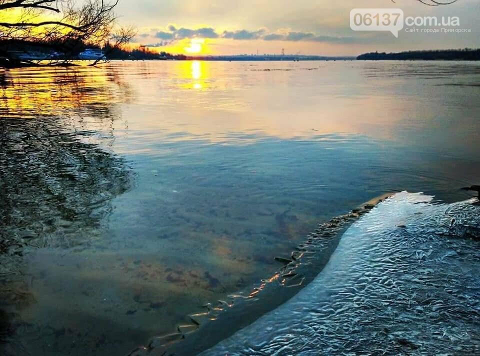 Солнце и лед: рассвет и закат на выходных в Запорожье. Фото  , фото-20