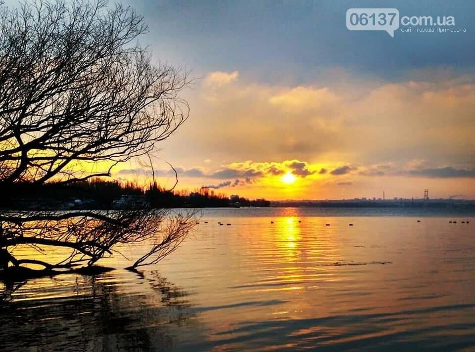Солнце и лед: рассвет и закат на выходных в Запорожье. Фото  , фото-21