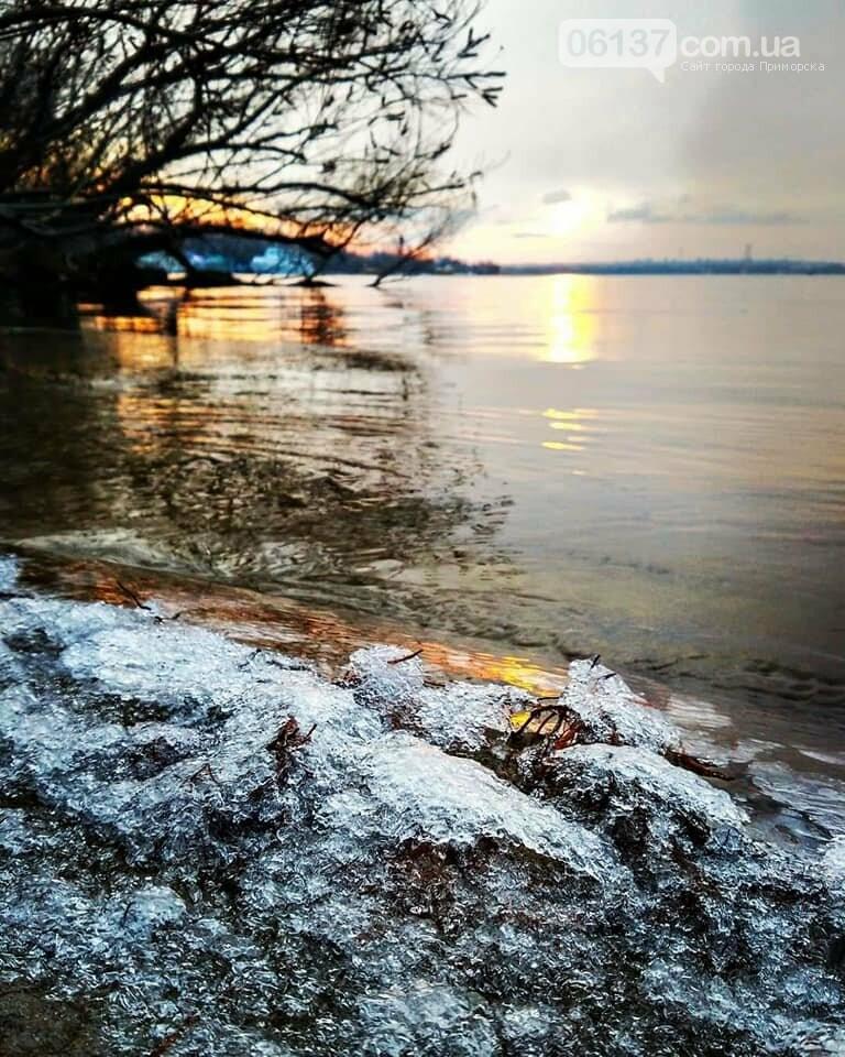 Солнце и лед: рассвет и закат на выходных в Запорожье. Фото  , фото-23