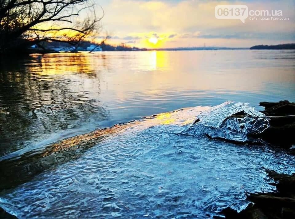 Солнце и лед: рассвет и закат на выходных в Запорожье. Фото  , фото-25