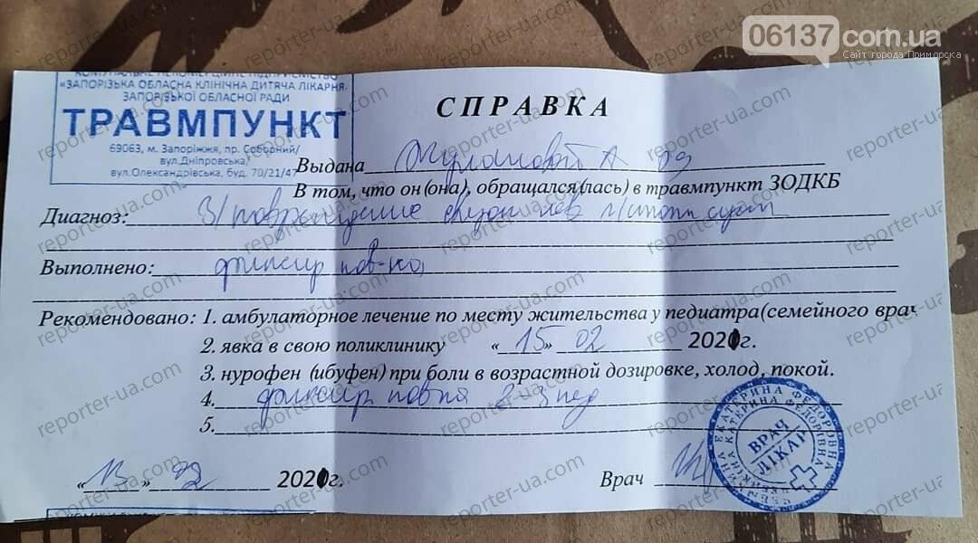 В Запорожье школьница травмировалась на выходе из ТРЦ: родители хотят обратиться в суд. Фото, фото-3