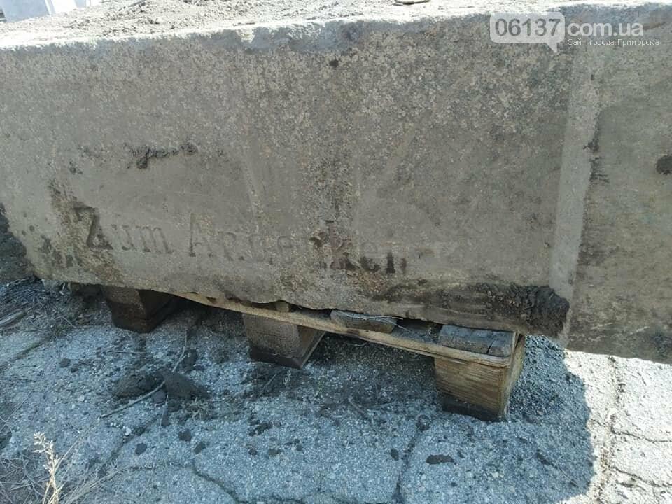 В Запорожье нашли часть памятника, установленного меннонитами. Фото , фото-9