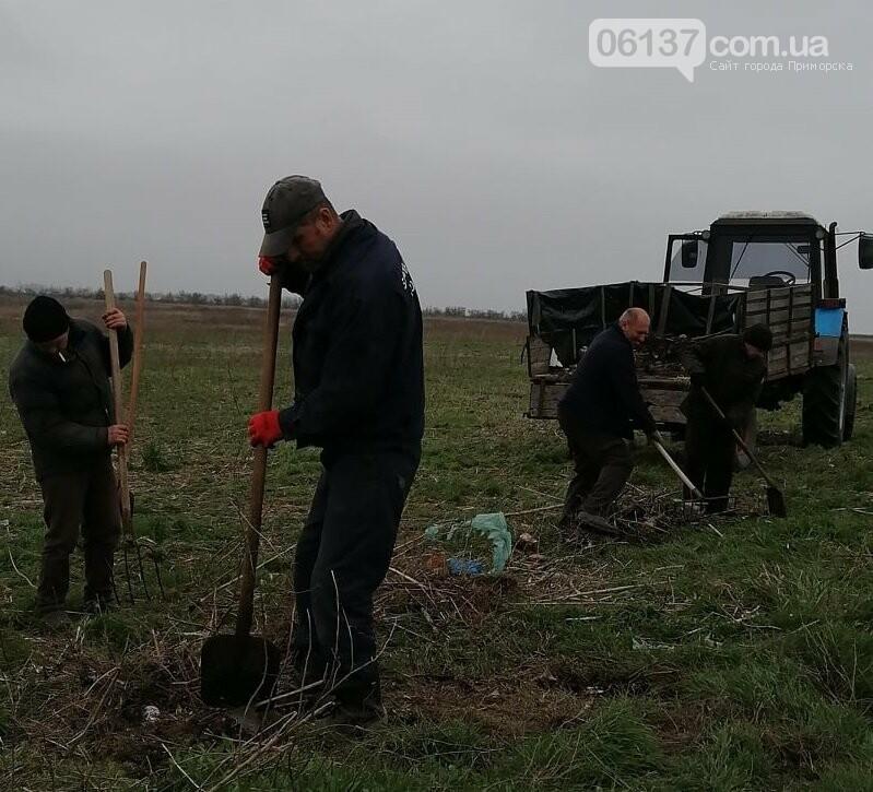 Жители Преслава Приморской ОТГ провели уборку территории своего села, фото-1