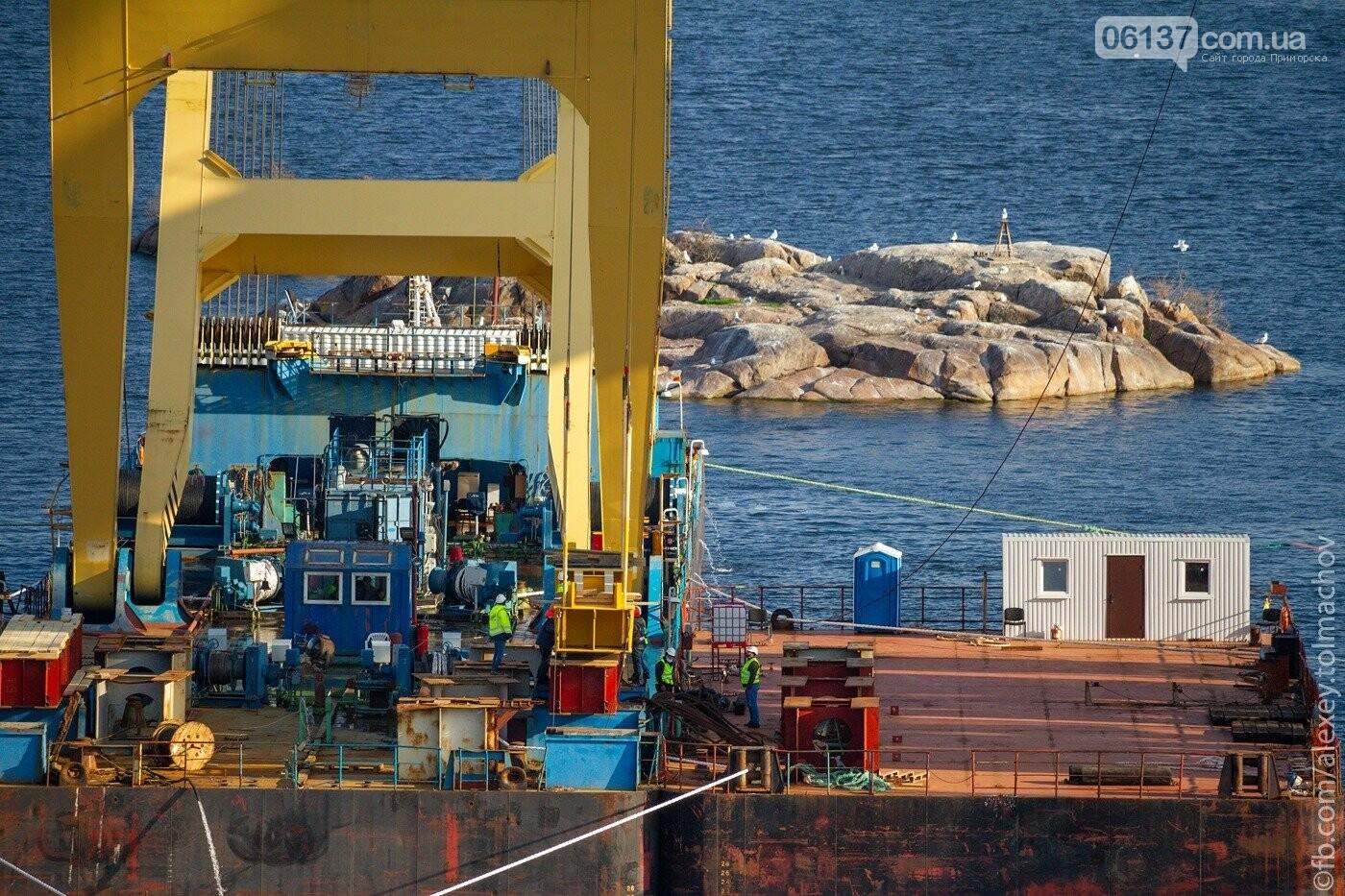 Историческое событие в Запорожье: смонтирован первый сегмент нового вантового моста. Фото, фото-5