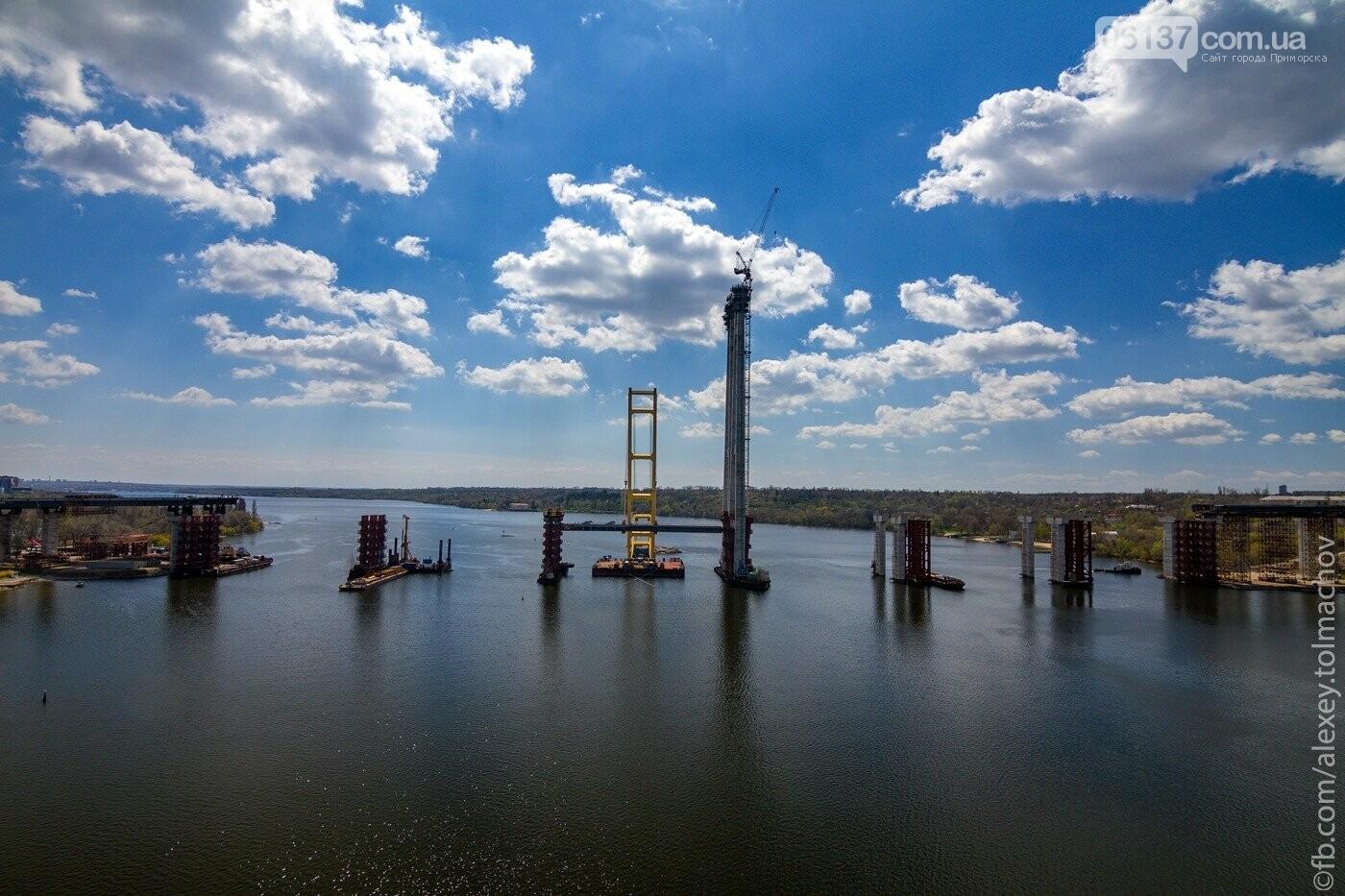 Историческое событие в Запорожье: смонтирован первый сегмент нового вантового моста. Фото, фото-6