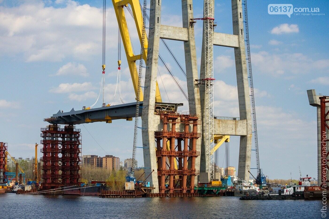 Историческое событие в Запорожье: смонтирован первый сегмент нового вантового моста. Фото, фото-18