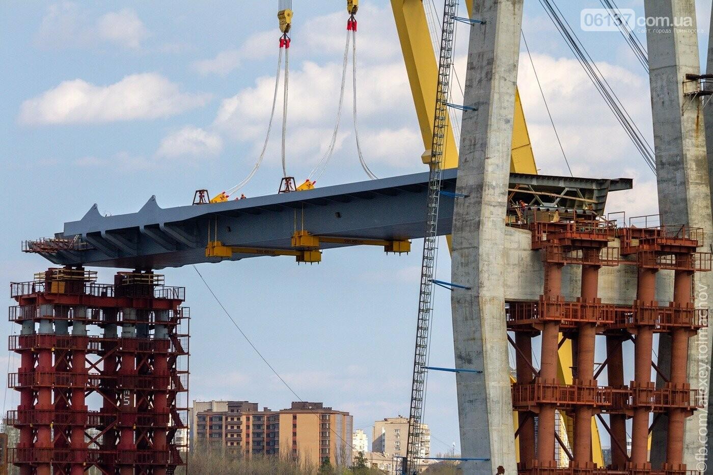 Историческое событие в Запорожье: смонтирован первый сегмент нового вантового моста. Фото, фото-14