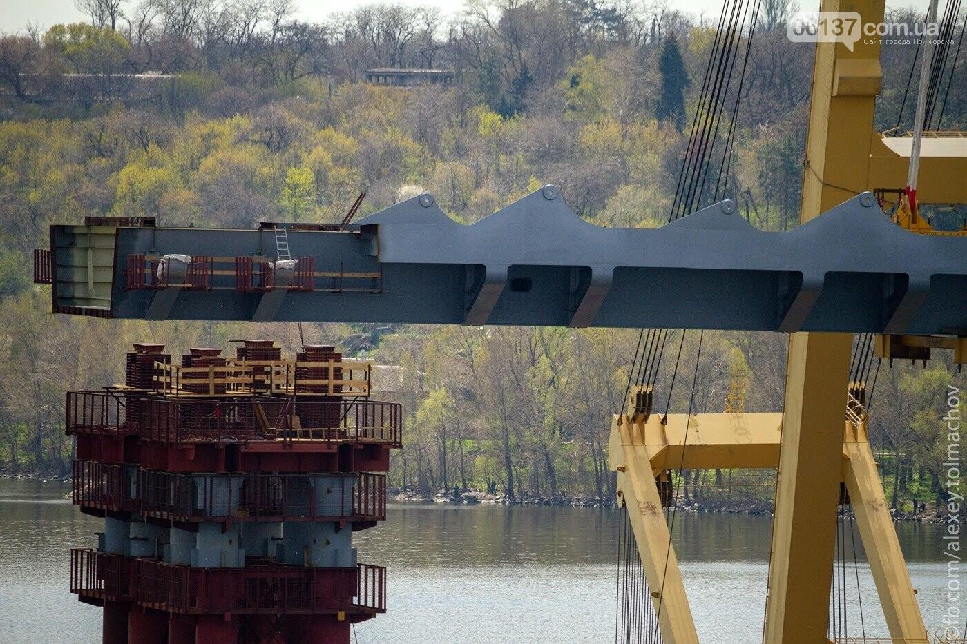 Историческое событие в Запорожье: смонтирован первый сегмент нового вантового моста. Фото, фото-24