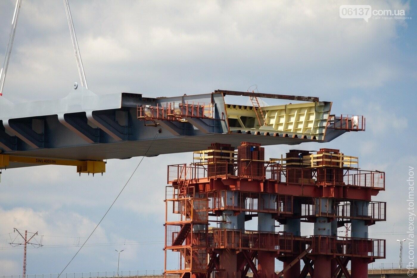 Историческое событие в Запорожье: смонтирован первый сегмент нового вантового моста. Фото, фото-26