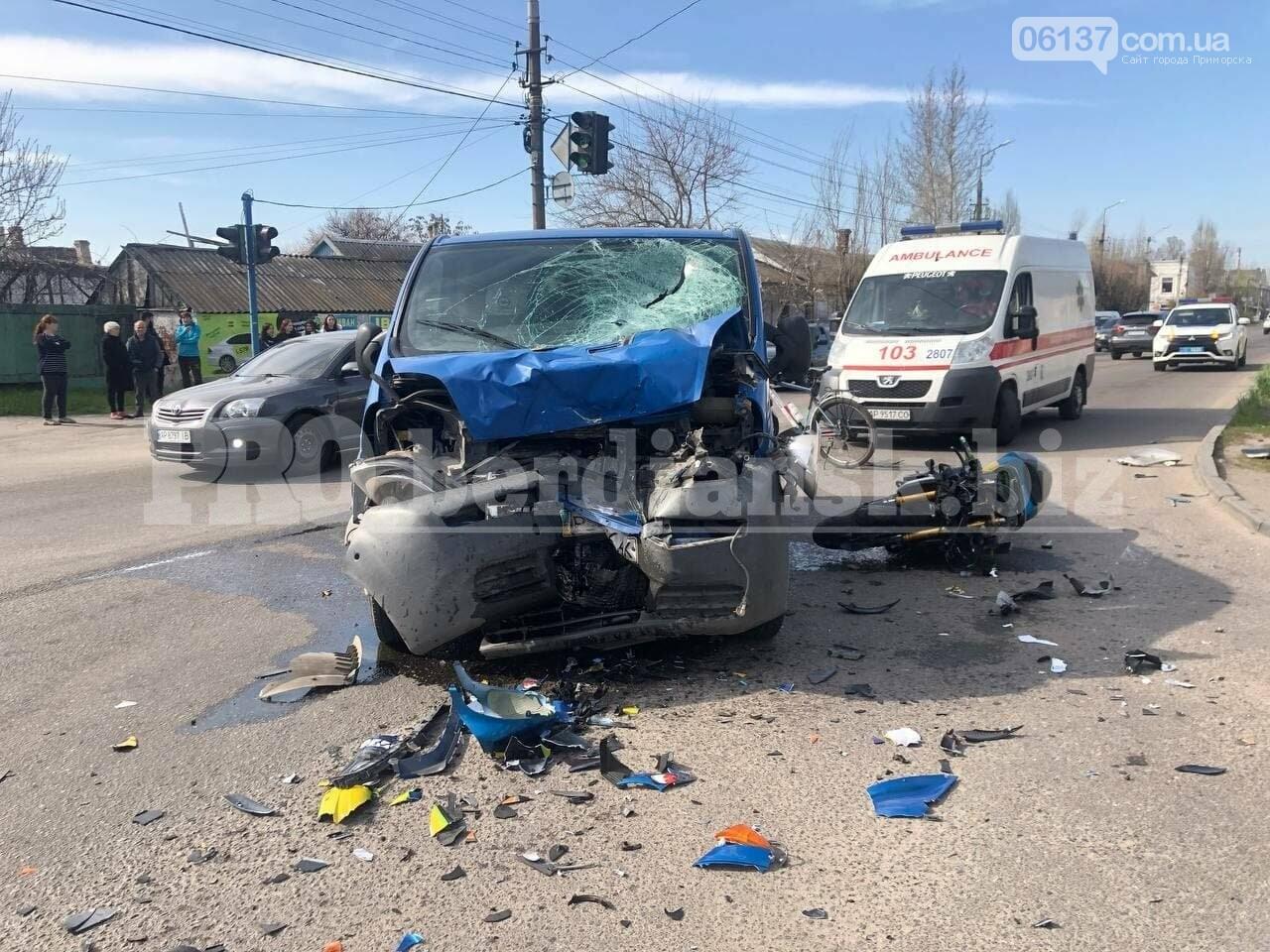 Крупное ДТП на курорте Запорожской области: три человека пострадали. Видео   , фото-1