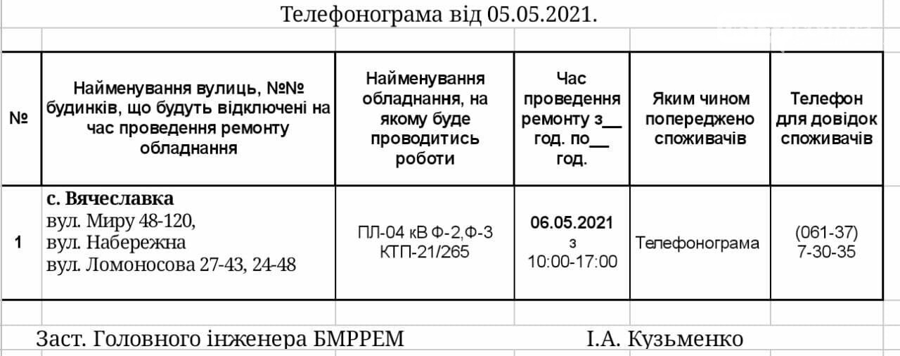 Сьогодні в деяких населених пунктах Приморської ОТГ буде відключено електропостачання, фото-1
