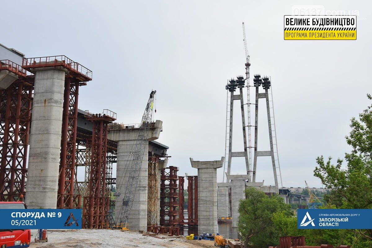 Запорожский мост готовят к третьему этапу надвижки. Фото, фото-8