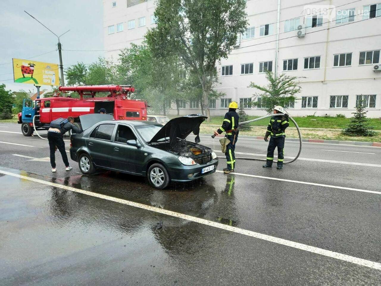В Запорожской области на ходу загорелось авто. Фото, фото-1